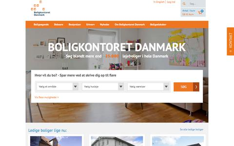 Screenshot of Home Page bdk.dk - Boliger til leje i hele Danmark | Boligkontoret Danmark - captured Sept. 22, 2018