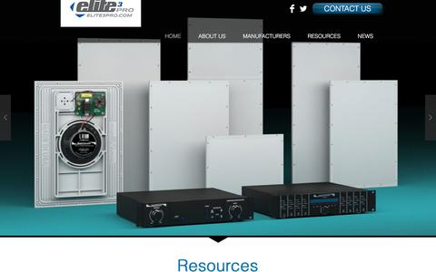 Screenshot of Home Page elite3pro.com - Elite 3 Pro - South Central US, CEDIA Sales Rep Agency - captured July 17, 2018