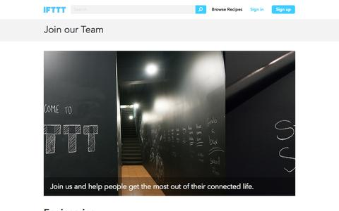 Join our Team - IFTTT