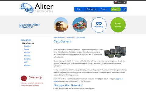 Screenshot of Products Page aliternetworks.pl - Refurbished and Pre-Owned Cisco Systems - captured March 4, 2016