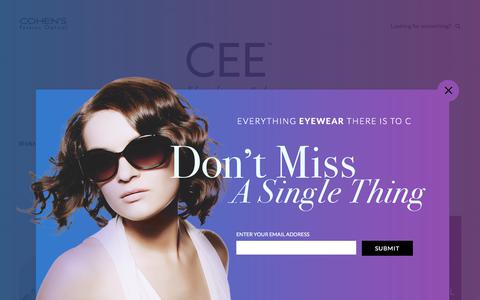 Screenshot of Blog cohensfashionoptical.com - Cee - The Eyewear Trends and Fashion Blog from Cohen's - captured July 19, 2018
