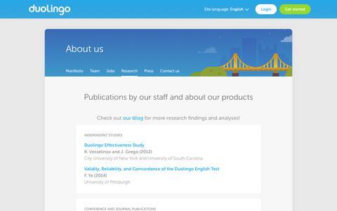 Research - Duolingo