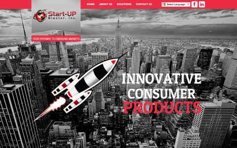 Screenshot of Home Page startupblaster.com - Start-UP Blaster, Inc. - captured Oct. 9, 2014