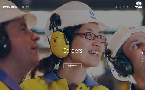 Screenshot of Jobs Page tatasteel.com - Careers   Tata Steel - captured Aug. 2, 2017