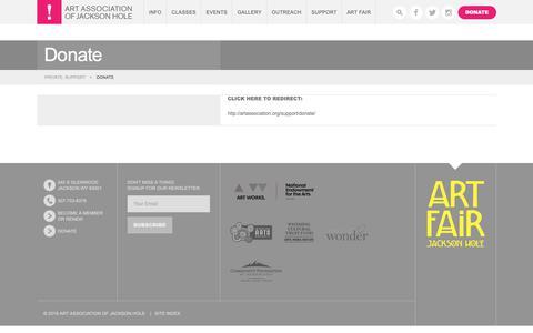 Screenshot of Support Page artassociation.org - Donate | Art Association of Jackson Hole - captured Oct. 4, 2018