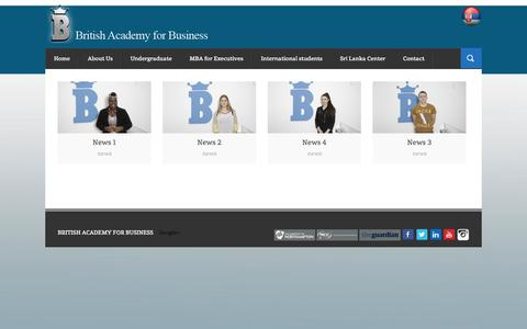 Screenshot of Press Page british-academy-business.com - News | British academy for business - captured Oct. 5, 2014