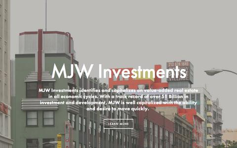 Screenshot of Home Page mjwinvestments.com - www.mjwinvestments.comMJW Investments, INC. - captured Aug. 2, 2015