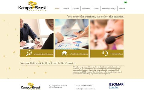 Screenshot of Home Page kampobrasil.com - Kampo Brasil Research - captured Oct. 16, 2017