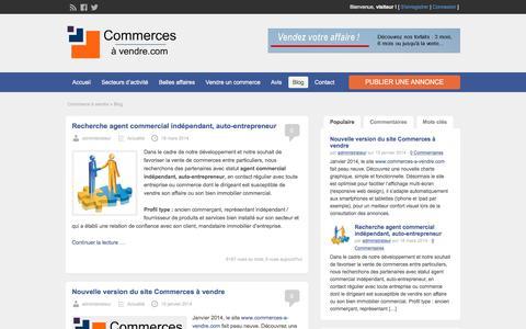 Screenshot of Blog commerces-a-vendre.com - Blog - Commerces à vendre - captured Feb. 10, 2018