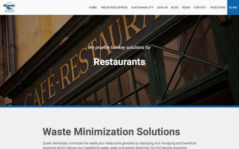 Restaurants - Quest Resource Management Group