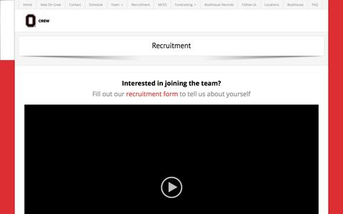 Screenshot of Signup Page osucrew.org - Recruitment – The Ohio State Crew - captured Oct. 23, 2017