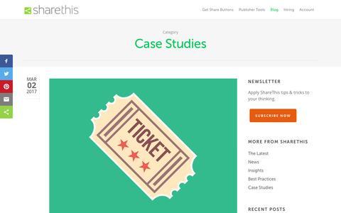 Screenshot of Case Studies Page sharethis.com - Case Studies Archives - ShareThis - captured March 15, 2017