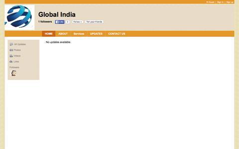 Screenshot of Home Page global-india.in - Global India - captured Jan. 29, 2016