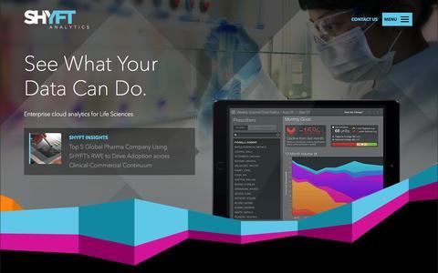 Screenshot of Home Page trinitypharma.com - Business Analytics, Big Pharma, Bio Tech   Shyft - captured Aug. 11, 2015