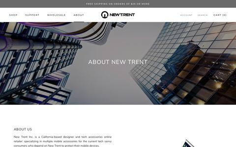 Screenshot of About Page newtrent.com - About New Trent - captured Sept. 29, 2018