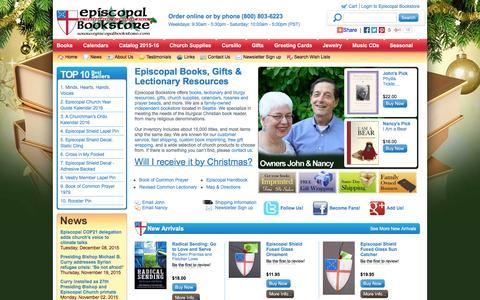 Screenshot of Menu Page episcopalbookstore.com - Episcopal Bookstore - Books, Gifts, Book Of Common Prayer - captured Dec. 10, 2015