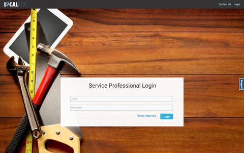 Screenshot of Login Page localfixpro.com - LocalFix - ServiceProviderIndex - captured Nov. 29, 2016
