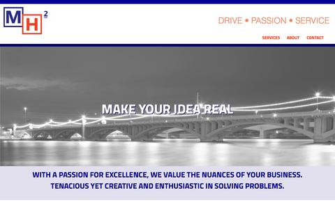 Screenshot of About Page mh2llc.com - MH2 | DRIVE • PASSION • SERVICE - captured Oct. 29, 2014