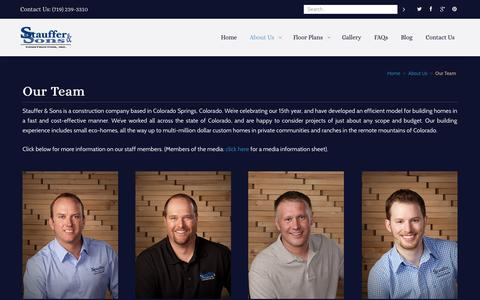Screenshot of Team Page staufferandsons.com - Our Team - Colorado Springs Home Builders - captured Oct. 7, 2014