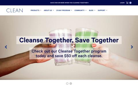 Screenshot of Home Page cleanprogram.com - Clean Program: Nutritional Cleanse, Detox & Healthy Diet Program - captured Sept. 19, 2018