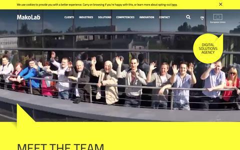 Screenshot of Team Page makolab.com - Meet our team - People - MakoLab - captured Nov. 27, 2018