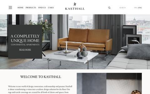 Screenshot of Home Page kasthall.com - Start | kasthall.se - captured Nov. 27, 2016