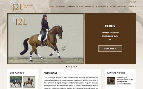 Screenshot of Home Page j2lhorses.com - Fokkerij en trainingsstal voor dressuurpaardenJ2L Dressage Horses - captured Jan. 19, 2015