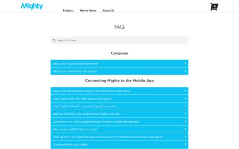 Screenshot of FAQ Page bemighty.com - FAQ – Mighty - captured Oct. 11, 2017
