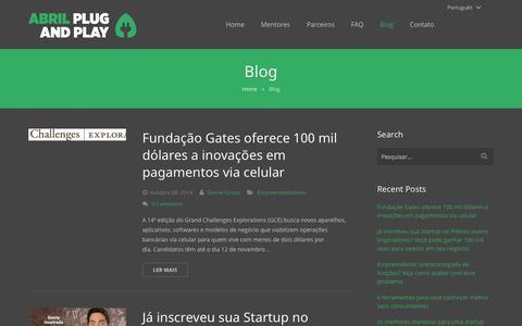 Screenshot of Blog abrilplugandplay.com - Abril Plug and Play - captured Oct. 29, 2014