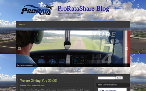 Screenshot of Blog proratashare.com - ProRataShare Blog - Aviation's Leading Local Networking Tool - captured Oct. 3, 2014