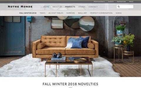 Screenshot of Products Page notremonde.com - Spring Summer 2018 Novelties   Notre Monde - captured Sept. 20, 2018