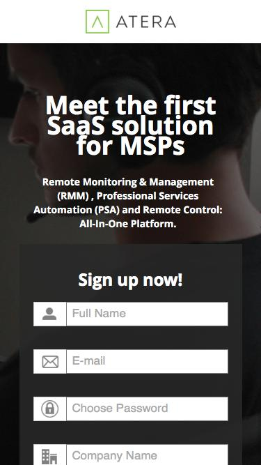 Meet Atera - The First SaaS All-in-One Software for MSPs.