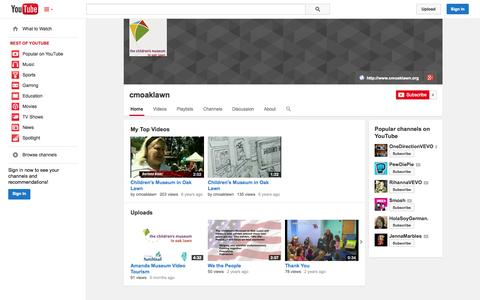 Screenshot of YouTube Page youtube.com - cmoaklawn  - YouTube - captured Oct. 22, 2014