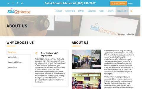 Screenshot of About Page solidcommerce.com - About Us | Solid Commerce - captured March 16, 2017