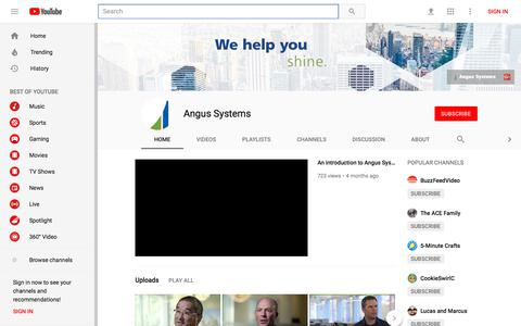 Angus Systems - YouTube - YouTube