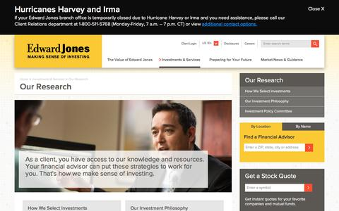 Our Research | Edward Jones