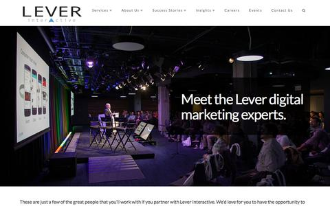 Screenshot of Team Page leverinteractive.com - Digital Marketing Experts | Lever Interactive - captured July 19, 2018