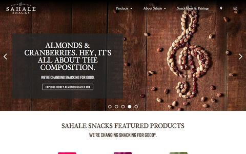 Screenshot of Home Page sahalesnacks.com - Sahale Snacks | Beyond Ordinary® - captured Nov. 24, 2019