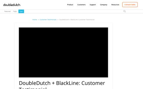 Screenshot of Testimonials Page doubledutch.me - DoubleDutch + BlackLine: Customer Testimonial - captured April 12, 2018