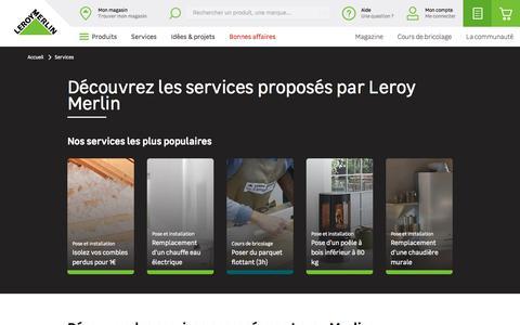 Screenshot of Services Page leroymerlin.fr - Services   Leroy Merlin - captured Nov. 25, 2019
