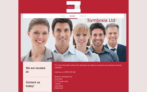 Screenshot of Contact Page symbosia.co.uk - Contact - captured Nov. 2, 2017