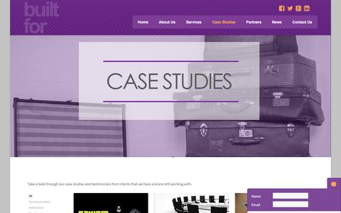Screenshot of Case Studies Page builtformarketing.co.uk - Case Studies | Built For Marketing - captured June 1, 2017