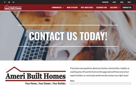 Screenshot of Contact Page ameribuilt-homes.com - Contact Ameri Built Homes - Ameri Built Homes - captured Oct. 21, 2018