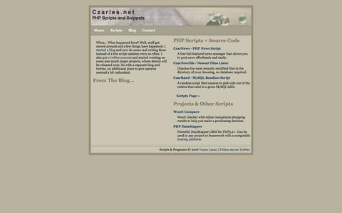Screenshot of Home Page czaries.net - Czaries.net // Main/News - captured April 15, 2016