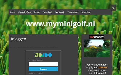 Screenshot of Login Page myminigolf.nl - Inloggen - De website van myminigolf! - captured Feb. 26, 2016
