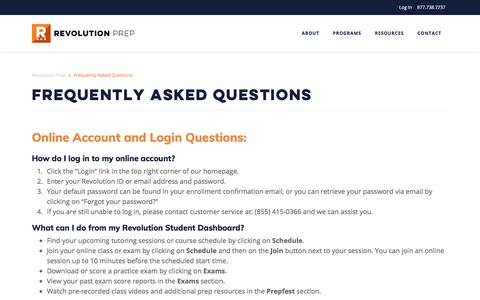 Frequently Asked Questions | Revolution Prep