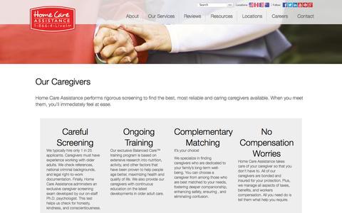 Screenshot of Team Page homecareassistance.com - Our Caregivers | Home Care Assistance - captured Nov. 2, 2014