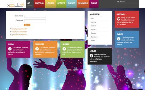 Screenshot of Login Page gonline.be - Login - GOnline - captured Sept. 27, 2014