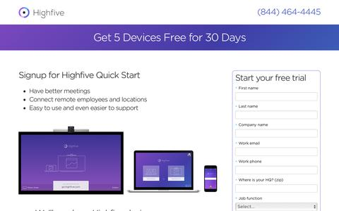 Try Highfive Video Conferencing Free