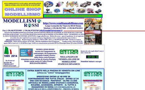 Screenshot of Home Page venditamodellismo.com - Modellismo Rossi: La tua guida per un acquisto nel vasto mondo del modellismo statico e dinamico - captured Sept. 12, 2015